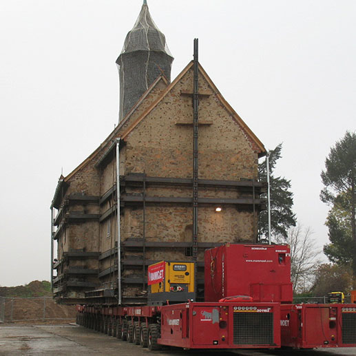TPA Mobile Straben Timelapse Moving of Heuersdorf Churc